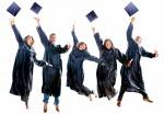 Graduation people jumping